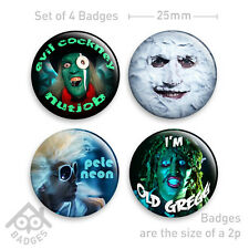 "MIGHTY BOOSH - MOON, HITCHER, OLD GREGG 1"" Badge - Set of 4 x 25mm Badges"