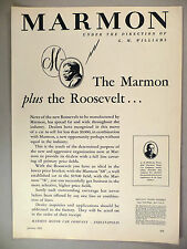 Marmon Motor Car PRINT AD - 1929 ~~ The Roosevelt