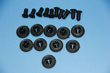 8-9MM SKODA BLACK PLASTIC RIVET SIDE SKIRT PANEL DOOR BUMP TRIM CLIPS