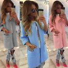 Autumn Winter  Ladies Long Jackets Warm Womens Slim Coat Outwear TOP Cardigan