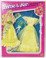 1979 BARBIE & KEN WEDDING PARTY FASHIONS BRIDESMAID'S DREAM YELLOW NRFB