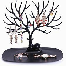 Retro Bird Tree Stand Jewelry Earrings Necklace Ring Show Rack Holder Display FE