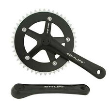 Black Shun 44T Alloy 170 Single Speed Fixed Gear Track Fixie Crankset Crank Set