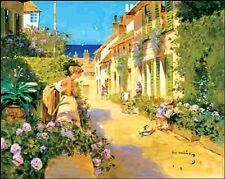 John Haskins: Mediterranean Town I Fertig-Bild 24x30 Wandbild mediterran