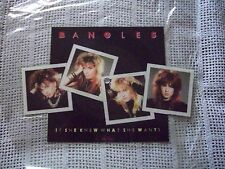 Bangles- If She Knew What She Wants Shaped Picture Disc UK vinyl