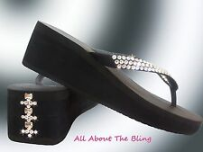 Havaianas flip flops or Cariris Wedge using Swarovski Crystals BOWS Exclusive