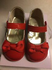 Angel Baby Shoes Red Patent Leather Mary Jane Toddler 5  New in Box