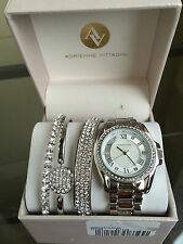 NIB ADRIENNE VITTADINI Ladies Watch and Bracelet Trio - Four Piece Set