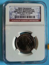 2007-D Presidential Dollar George Washington - NGC BU - First Day of Issue $1