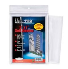 """100 Protèges/Pochettes Ultra Pro 5""""X7"""" Soft Sleeves (Holds Photos & Postcards)"""