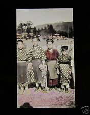 GLASS MAGIC LANTERN SLIDE BOYS C1920 JAPANESE JAPAN