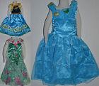 Girls Frozen Elsa Anna Dress Costume Size 2,3,4,5,6,8