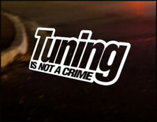 TUNING CRIME, Car Decal Vinyl JDM Sticker Euro Drift RS ST VW Audi JAPAN Nissan