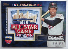 2014 Topps Rod Carew All-Star Fanfest Patch Card #6/150 Minnesota Twins #PC04
