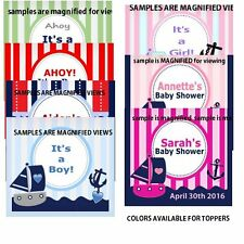 50 Baby Shower Favors, TOPPERS for Lifesaver mints Personalized Nautical Themes