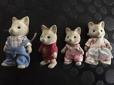 Sylvanian Families Cat Family With Stripe