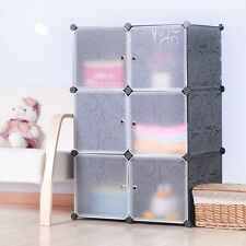 DIY Home Storage Cube Cabinet for Clothes Shoes Bags, Office, Black (6) Cubitbox