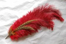 Renaissance Victorian Ostrich Feather Tricorne Hat Pin 4 Pirate Faire Costume