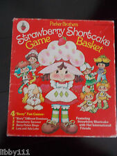 "1981 Parker Brothers Strawberry Shortcake Game Basket. 4 ""Berry"" Fun Games"
