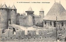 BF6865 le chateau feodal entree principale carcassone france      France