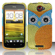 T-Mobile HTC One S Crystal Diamond BLING Hard Case Snap Phone Cover Yellow Owl