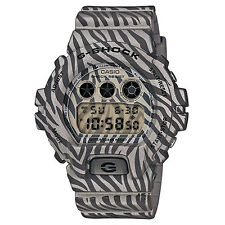 G-Shock DW-6900ZB-8ER Men's Grey Zebra Stripe Shock Resistant Watch w Alarm BNIB