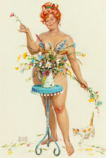 "Vintage Pin Up Art Hilda 13 x 19""  Photo Print"