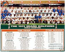 1972 MIAMI DOLPHINS UNDEFEATED NFL SUPER BOWL CHAMPIONS TEAM 8X10 PHOTO
