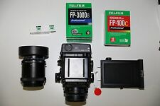 Mamiya RZ67 Pro II WITH: 110mm lens, 180mm lens, Polaroid Back, and Film!
