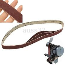 80 Grit 3 Pack of 1'' x 42'' Air Sander Sanding Belts Metal Working Sharpening