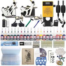 Complete Tattoo Machine Kit 2 Gun Ink Beginner Set 50 Needle Grip Power Supply K