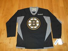 NWT Reebok BOSTON BRUINS NHL Hockey Stitched Replica Practice Jersey MENS Large