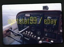 Pilot View of Airplane Cockpit - In Flight - c1960s - Vintage 35mm Slide
