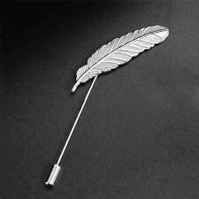 Women Retro Feather Tibetan Silver Plated Brooch Sweater/Scarf /Shawl Pin Brooch