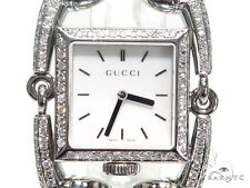 Ladies Women Diamond Gucci Watch Round Cut G Color Pave 3.20ct