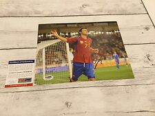 David Villa Signed Team Spain 8x10 Photo PSA/DNA COA Autographed Barcelona i