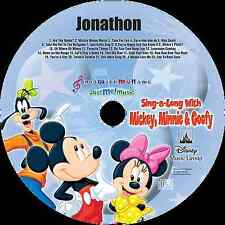 Personalized Disney Mickey Mouse Children Music CD