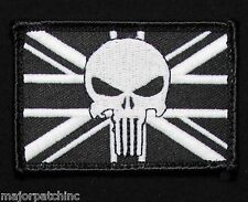 UNITED KINGDOM GLOW PUNISHER UK BRITISH FLAG GITD BLACK OPS SWAT HOOK PATCH