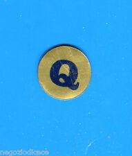"""KICA - Sorprese Decalcomania Figurina-Sticker anni 60 - LETTERA """"Q"""" TONDA"""