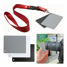 3in1 18% Digital Photography Exposure Color Balance Card Set Gray/White/Black