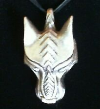 Warg Norse Wolf Fenrir Pewter Pendant Leather Necklace! New Thor Odin Viking