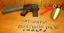Assorted Galoob Army Gear Toys - Partial Gun Grenade Figures