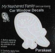 BUDGIE PARAKEET Parrot BIRD STICKER Window Car Decal Cartoon