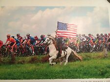 Tour De France Olde Glory 2004 Lance Armstrong Photo American Flag Poster Rare
