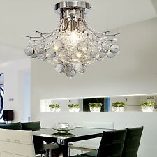 Modern NEW 3-Light Crystal Chandelier Flush Mount Ceiling Lighting Pendant Lamp