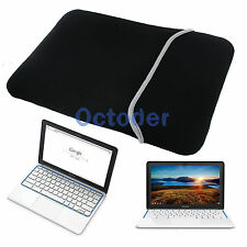 Black Soft Sleeve Case Bag Pouch Cover for 11.6 inch HP Chromebook 11 Laptop