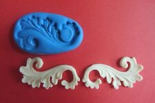 2 X SMALL FRENCH SCROLL Moulds Cupcakes Chocolate Sugarcraft  Topper  Fimo