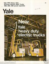 Fork Lift Truck Brochure - Yale - ERC Heavy Duty Electric - c1974 (LT14)