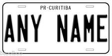 Brazil PR-Curitiba Any Name Number Novelty Auto Car License Plate C01
