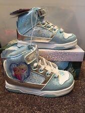 NEW Princess Elsa & Anna Disney Frozen High Top Sneakers Shoes Toddler Size 11